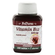 MedPharma Vitamin B12, 500mcg - 107 Tablets - Vitamin B