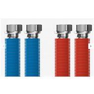 """MERABELL Aqua Flexi G1/2""""-G1/2"""" 30-60cm - 2ks (modrá, červená) - Hadice"""