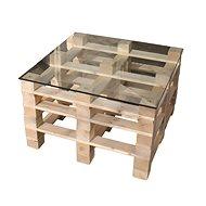 Moduleta Konferenční stůl čtverec SKLO - Zahradní stůl