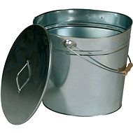 Lienbacher Oval Container with Lid for Ash 24l, Galvanized - Ash Container