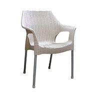 MEGAPLAST BELLA polyratan, AL nohy, champagne - Zahradní židle