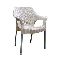 MEGAPLAST BELLA Polyratan, Aluminium Legs, Champagne - Garden Chair