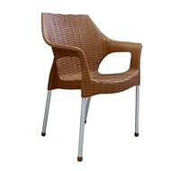 MEGAPLAST BELLA polyratan, AL nohy, okr - Zahradní židle