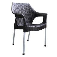 MEGAPLAST BELLA polyratan, AL nohy, wenge - Zahradní židle