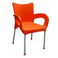 MEGAPLAST SMART plast, AL nohy, oranžová - Zahradní židle