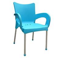 MEGAPLAST SMART plast, AL nohy, tyrkysová - Zahradní židle