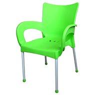 MEGAPLAST SMART plast, AL nohy, zelená - Zahradní židle