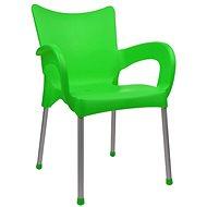 MEGAPLAST DOLCE plast, AL nohy, zelená - Zahradní židle