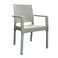 MEGAPLAST RATAN LUX polyratan, AL nohy, champagne - Zahradní židle