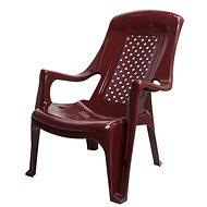 MEGAPLAST CLUB plast, bordó - Zahradní židle