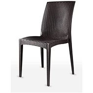 MEGAPLAST DALIA polyratan, AL nohy, wenge - Zahradní židle