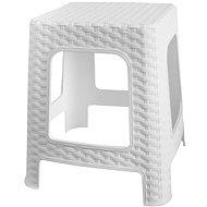 MEGAPLAST Taburet I 36x33x33 cm, polyratan, bílá  - Zahradní židle