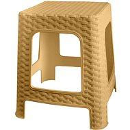 MEGAPLAST Taburet I 36x33x33 cm, polyratan, krém  - Zahradní židle