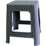 MEGAPLAST Taburet I 36x33x33 cm, polyratan, šedá  - Zahradní židle