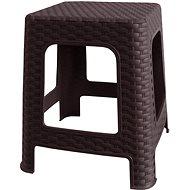 MEGAPLAST Taburet I 36x33x33 cm, polyratan, wenge  - Zahradní židle
