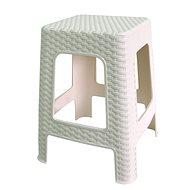 MEGAPLAST Taburet II 45x35,5x35,5 cm, polyratan, bílá  - Zahradní židle