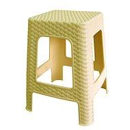 MEGAPLAST Taburet II 45x35,5x35,5 cm, polyratan, krém  - Zahradní židle