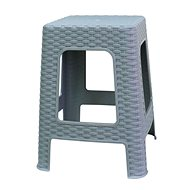 MEGAPLAST Taburet II 45x35,5x35,5 cm, polyratan, šedá  - Zahradní židle
