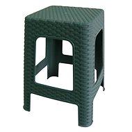 MEGAPLAST Taburet II 45x35,5x35,5 cm, polyratan, tm. zelená  - Zahradní židle