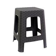 MEGAPLAST Stool II 45x35,5x35,5cm, Polyrattan, Wenge - Garden Chair