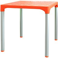 MEGAPLAST VIVA 72x72x72cm, ALUMINIUM Legs, Orange - Garden Table