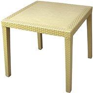 MEGAPLAST RATAN LUX 73x75,5x75,5 cm, polyratan, champagne - Zahradní stůl