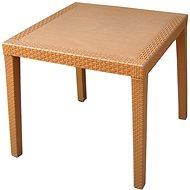 MEGAPLAST RATAN LUX 73x75,5x75,5 cm, polyratan, okr - Zahradní stůl