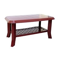 MEGAPLAST CLUB 90x55x44cm, Burgundy - Garden Table