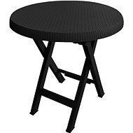 MEGAPLAST Teo folding O 70 cm, anthracite - Garden Table