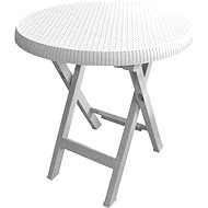 MEGAPLAST Teo folding O 70 cm, white - Garden Table