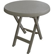 MEGAPLAST Teo folding About 70 cm, mocca - Garden Table