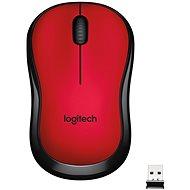 Logitech Wireless Mouse M220 Silent, červená - Myš