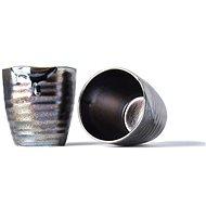 Made In Japan Hrnek s nepravidelným okrajem MUG SUSHI černá metalíza 9 cm