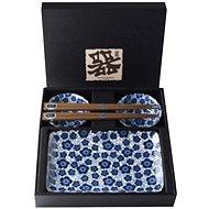 Made In Japan Sushi set Blue Plum Design 6 ks - Set