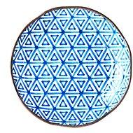 Made In Japan Mělký talíř Triangle Indigo Ikat 23 cm - Talíř