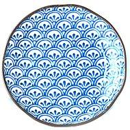 Made In Japan Mělký talíř 3 Petal Crest Indigo Ikat 23 cm - Talíř