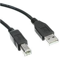 OEM USB 2.0 propojovací 3m A-B černý - Datový kabel