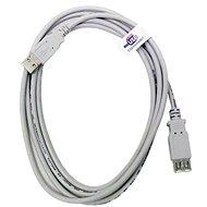 OEM USB 2.0 prodlužovací 5m A-A šedý - Datový kabel