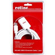 ROLINE USB 2.0 prodlužovací 5m A-A aktivní bílý
