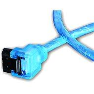 AKASA SATA blue UV 0.5m - Datový kabel