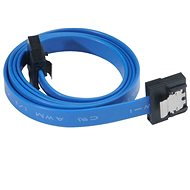 AKASA PROSLIM SATA modrý 0.3m - Datový kabel