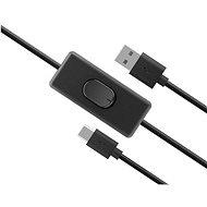 AKASA USB C napájecí kabel se switchem / AK-CBUB57-15BK - Datový kabel
