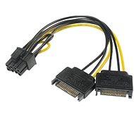 AKASA napájecí redukce 2x SATA na 6 + 2pin PCIe 2.0 - Napájecí redukce