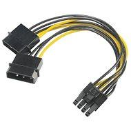 AKASA napájecí redukce 4pin Molex na 8pin PCIe