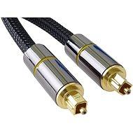 PremiumCord Optical Audio Cable Toslink, OD:7mm, Gold-metal Design + Nylon 3m