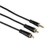 Hama propojovací 3.5mm jack (M) - 2x cinch (M) 1.5m - Audio kabel