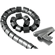 Organizace kabelů Trubice pro vedení kabelů 2.5m stříbrná