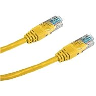 Datacom CAT5E UTP žlutý 0.5m - Síťový kabel