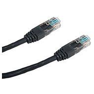 Datacom CAT6, UTP, 0.25m černý - Síťový kabel