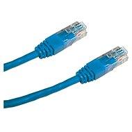 Datacom CAT6, UTP, 0.25m modrý - Síťový kabel